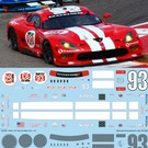 DODGE VIPER - SRT #93 (red) - IMSA 2014