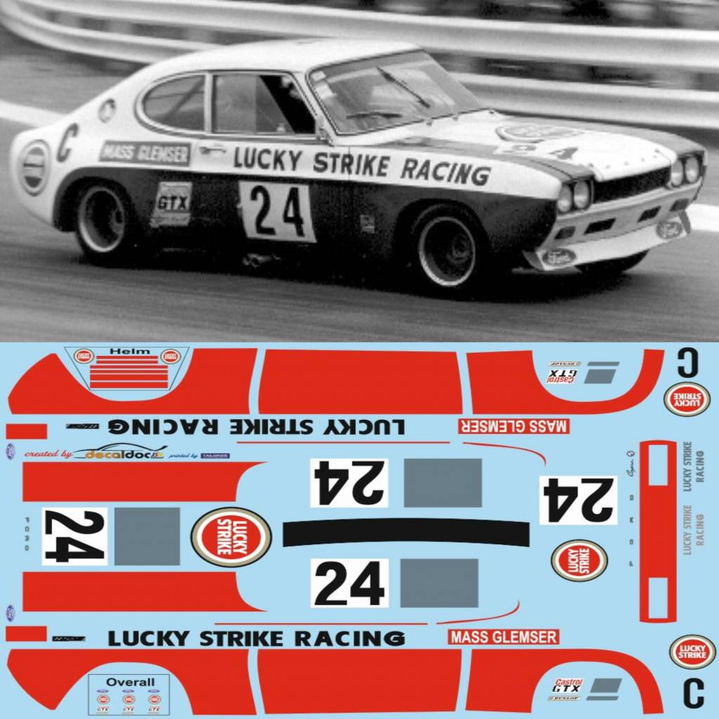 ford capri lucky strike tailormadedecals