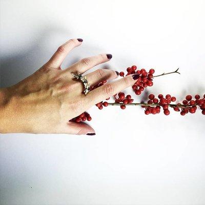 SABRINA DEHOFF Ring SINGLE PALM TIARA
