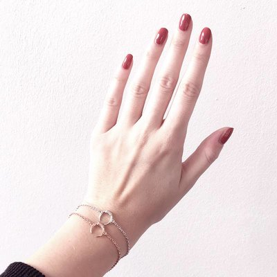 MARIA BLACK Armband MINI TUSK Silber