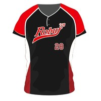 Wally Wear Robur Softball Jersey (Zwart)