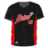 Wally Wear Robur Full Button Jersey (Zwart)