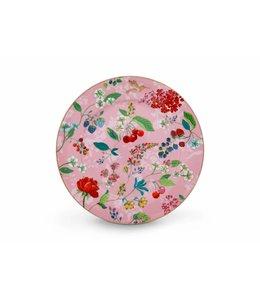 Pip Studio Floral onderbord Hummingbirds 32 cm Roze