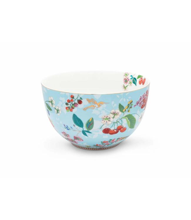 Pip Studio Floral kom Hummingbirds 23 cm Blauw
