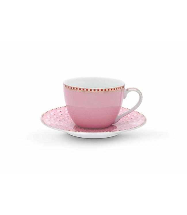 Espresso kop en schotel Bloomingtales Roze