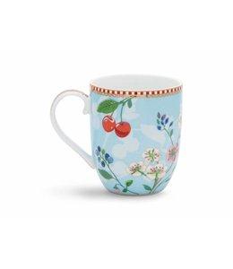 Floral mok klein Hummingbirds Blauw