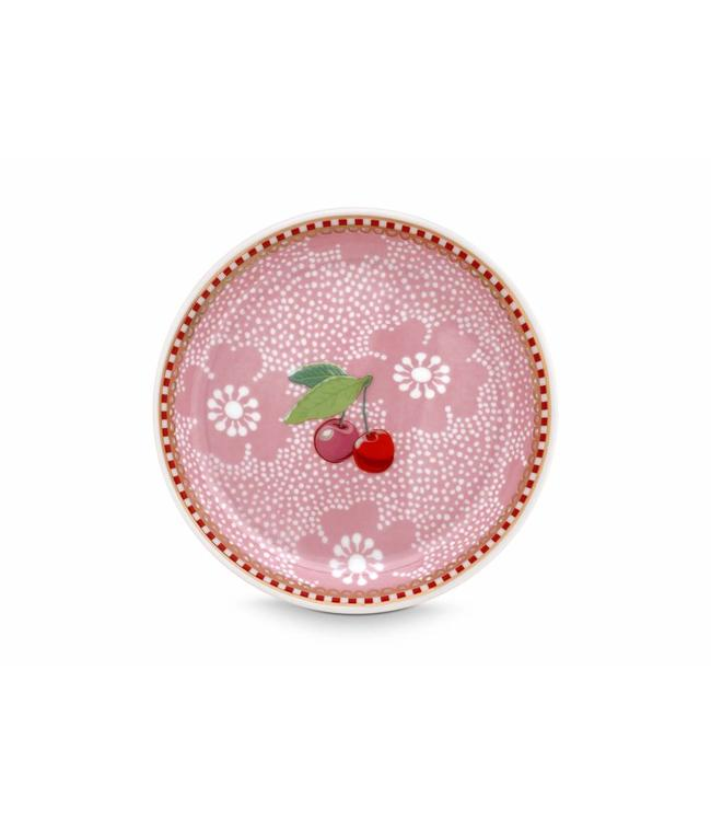 Floral theetip Dotted Flower Roze