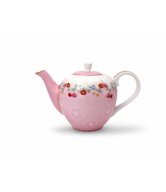 Floral theepot klein Cherry Pink