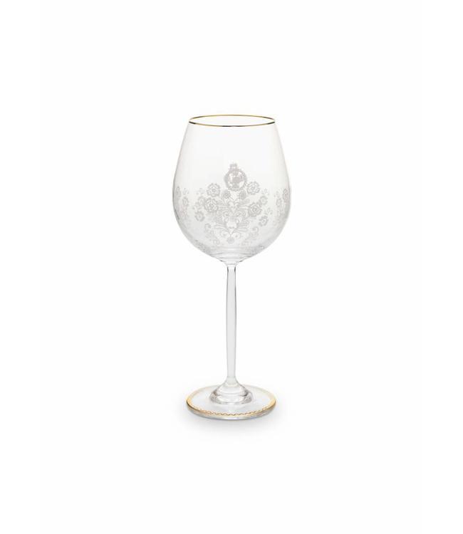 Floral wijnglas