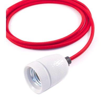No.1 hanglamp met rood strijkijzersnoer