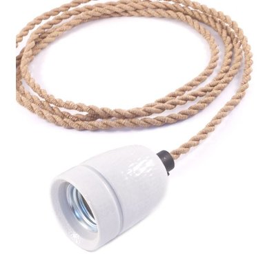No.1 hanglamp met scheepstouw strijkijzersnoer