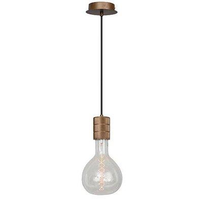 No.1 hanglamp e40 met bruin strijkijzersnoer