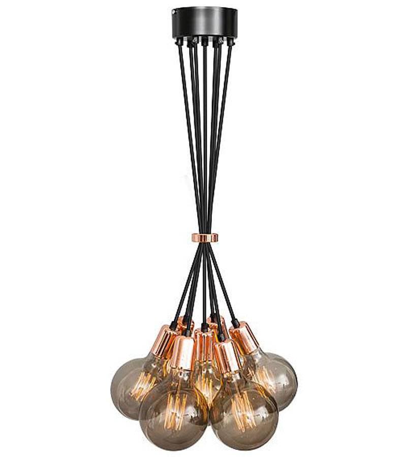 Het Lichtlab No.3 hanglamp bundel koper 7 lichts