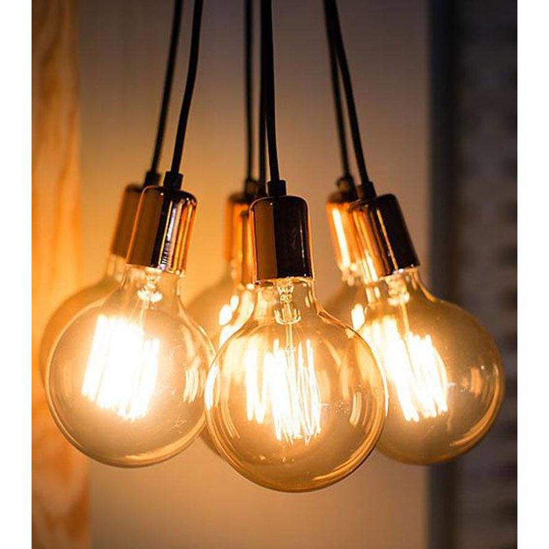 Het Lichtlab No.3 Hanglamp bundel 7 lichts koper