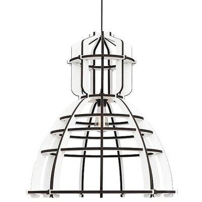 Hanglamp no.19 xl industrielamp white edition