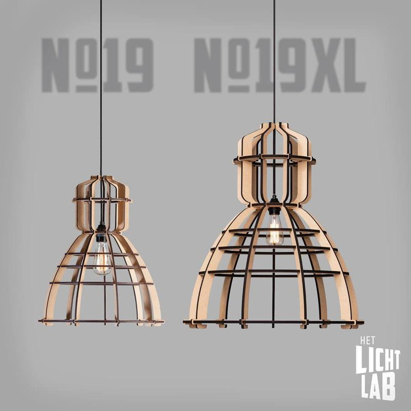 Het Lichtlab Hanglamp no.19 xl industrielamp white edition