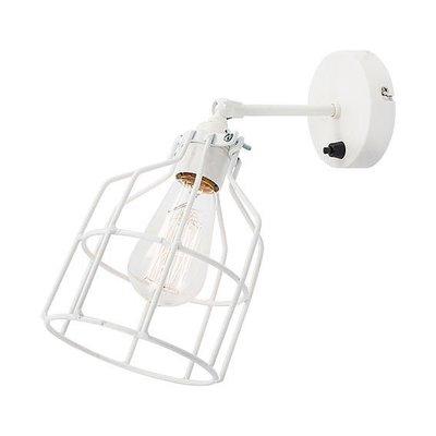 No.15 wandlamp wit met witte kooi