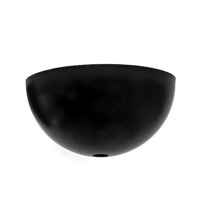 Plafondkap halve bol 10 cm zwart