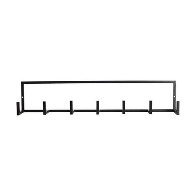 Kapstok Rack zwart 60 x 12 cm