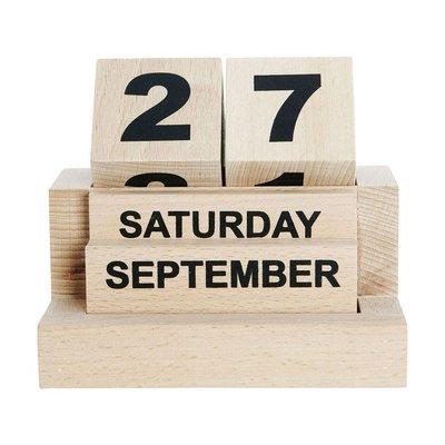 Kalender Eternity houten blokken