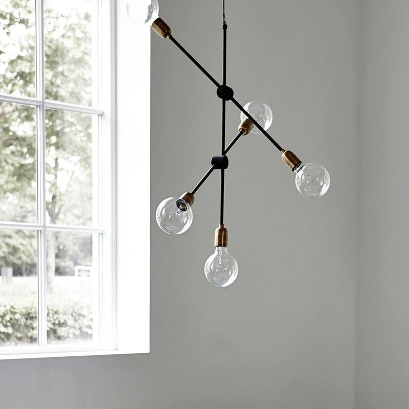 House Doctor Hanglamp molecular zwart 68 cm