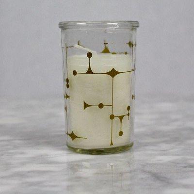 Gold kaars in glas met grafische print