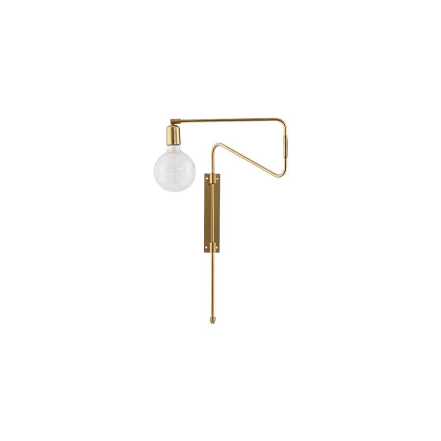 House Doctor Wandlamp swing goud