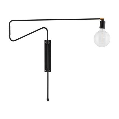 Wandlamp Swing zwart 70 cm