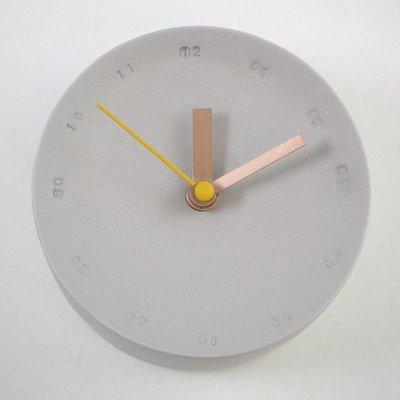 Studio Harm en Elke Wandklok porselein klein grijs - geel