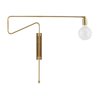 Wandlamp Swing messing 70 cm
