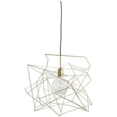 Hanglamp asymmetric shiny gold