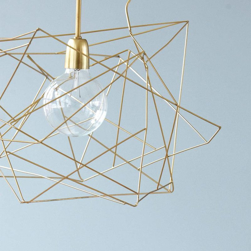 House Doctor Lampenkap Asymmetric Shiny Gold House For Interior