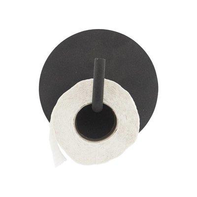 Toiletrolhouder Text zwart
