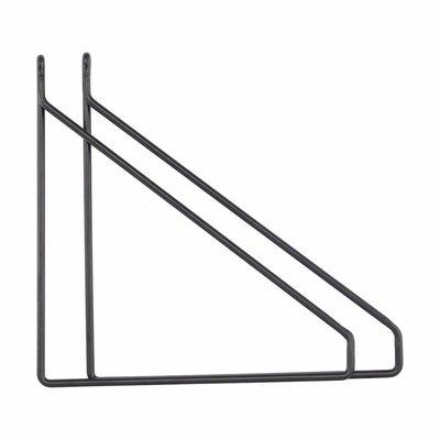 House Doctor Plankdragers zwart metaal set van 2