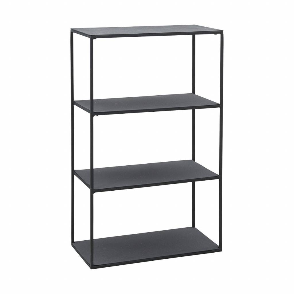 House Doctor Zwart metalen kast Rack Model B 25 x 50 x 80