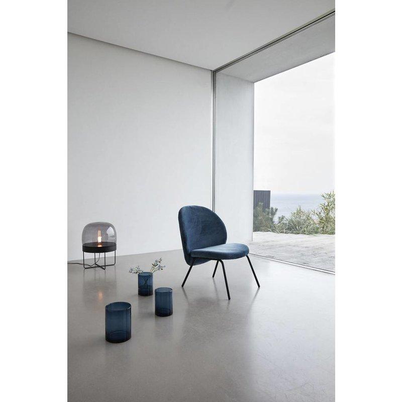 Hübsch Vloerlamp metaal glas zwart 40 x 56 cm