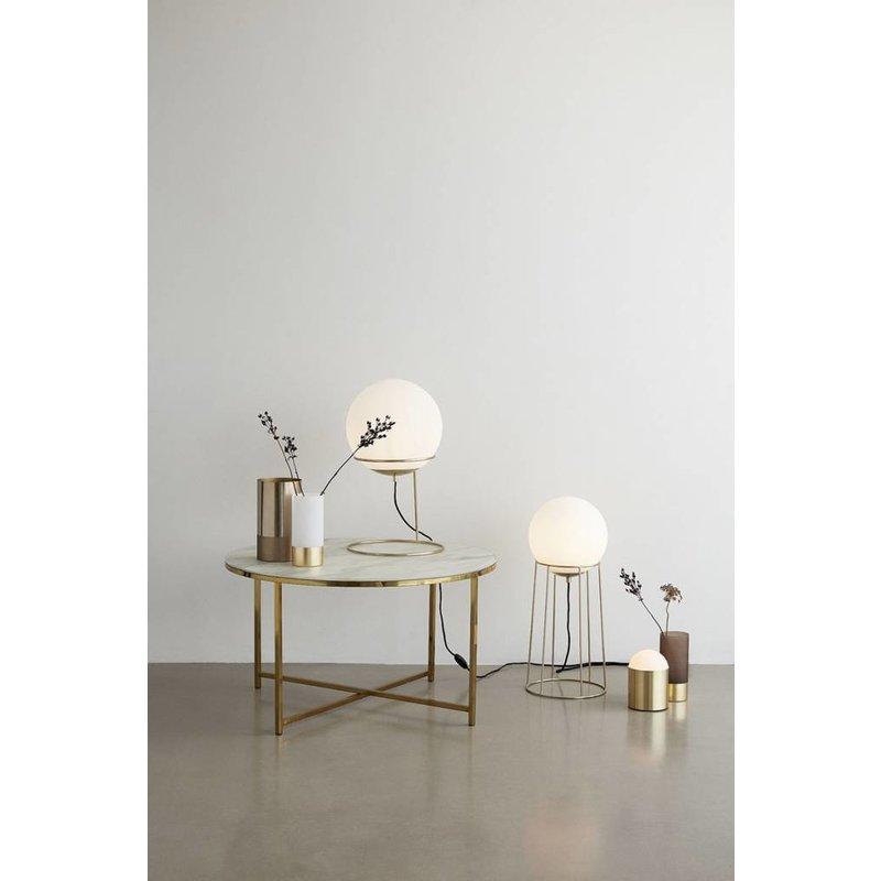 Hübsch Vloerlamp goud wit metaal 25 x 60 cm