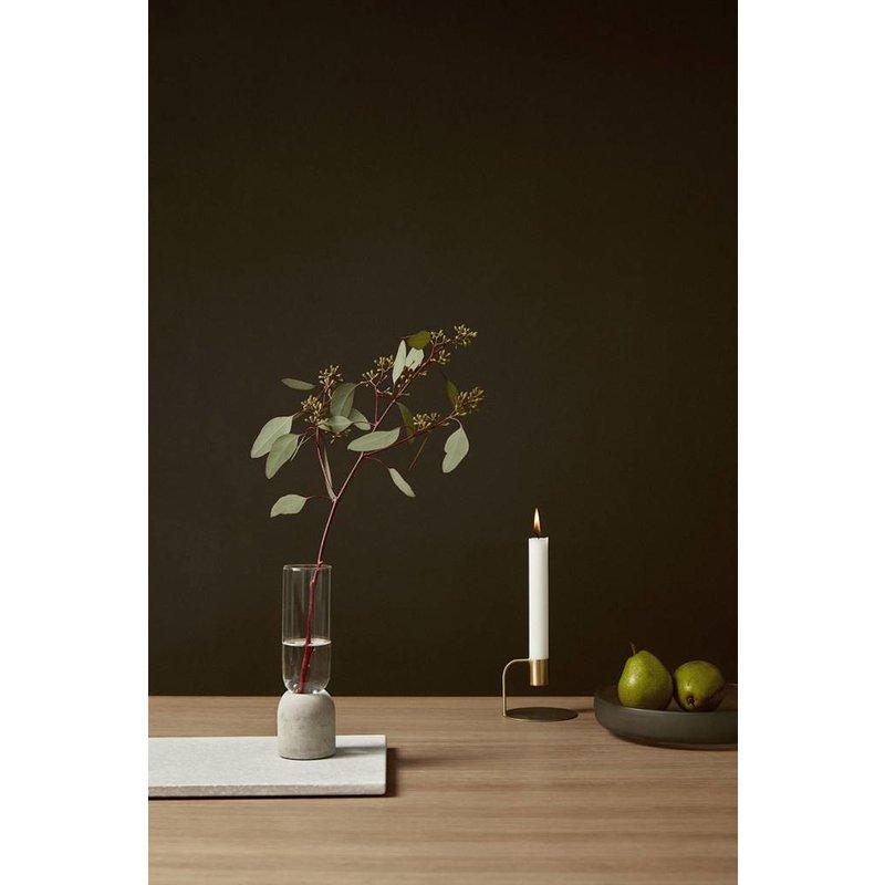 Hübsch Set vazen transparant glas en beton