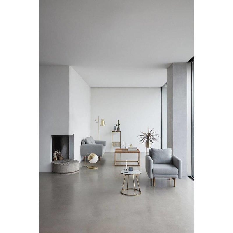 Hübsch Set vazen blauw glas en beton