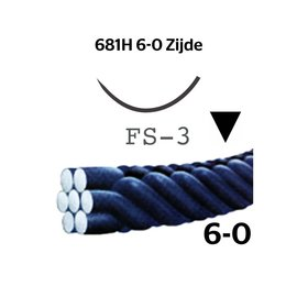 681H Silk® 6-0 met FS-3 (16mm) naald
