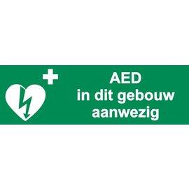 AED in dit gebouw aanwezig - 30 x 10 cm