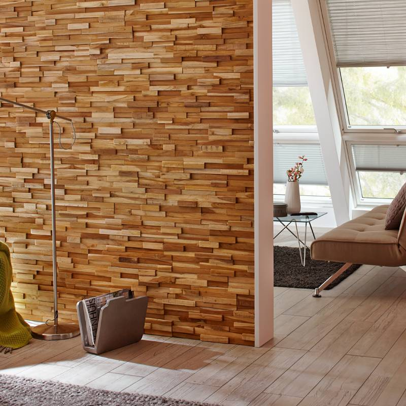 Rebel of styles ultrawood teak firenze wallsupply for Decor mural xxl leroy merlin