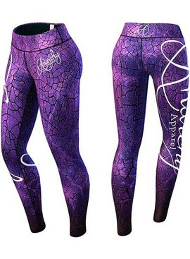 Anarchy Apparel Leggings Lava VIOLETT - BLACK