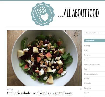 Spinaziesalade met bietjes en geitenkaas van FoodIlove