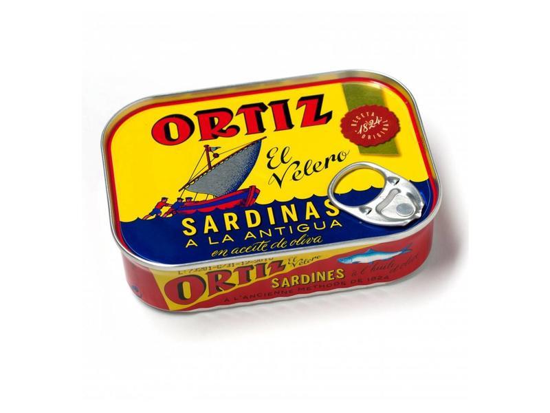 Ortiz Sardientjes a la Antigua in olijfolie met zout