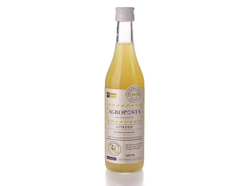 Agroposta Citroen Siroop op fles
