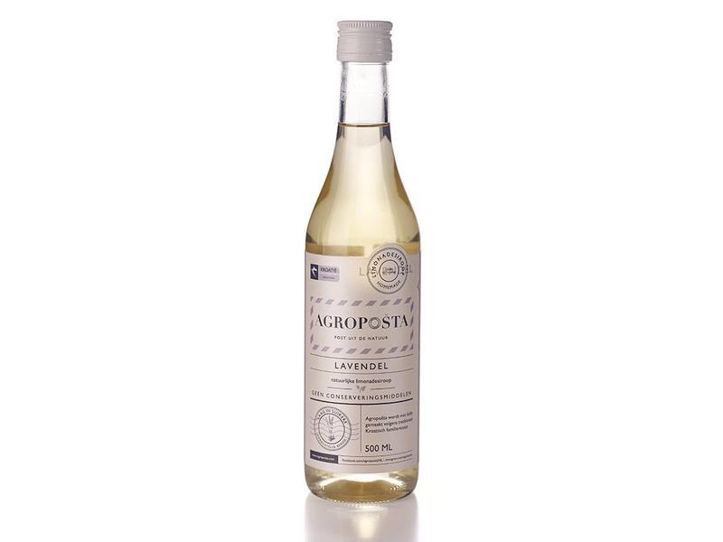 Agroposta Lavendel siroop op fles