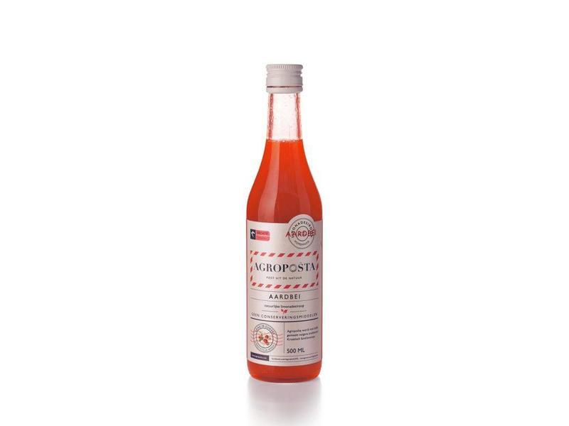 Agroposta Agroposta Aardbeiensiroop Fles 500ml