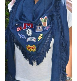 Patched scarf