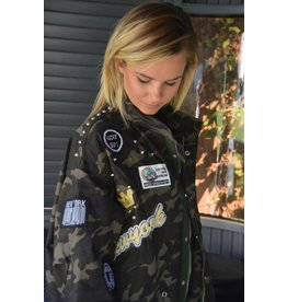 Camouflage patched jacket